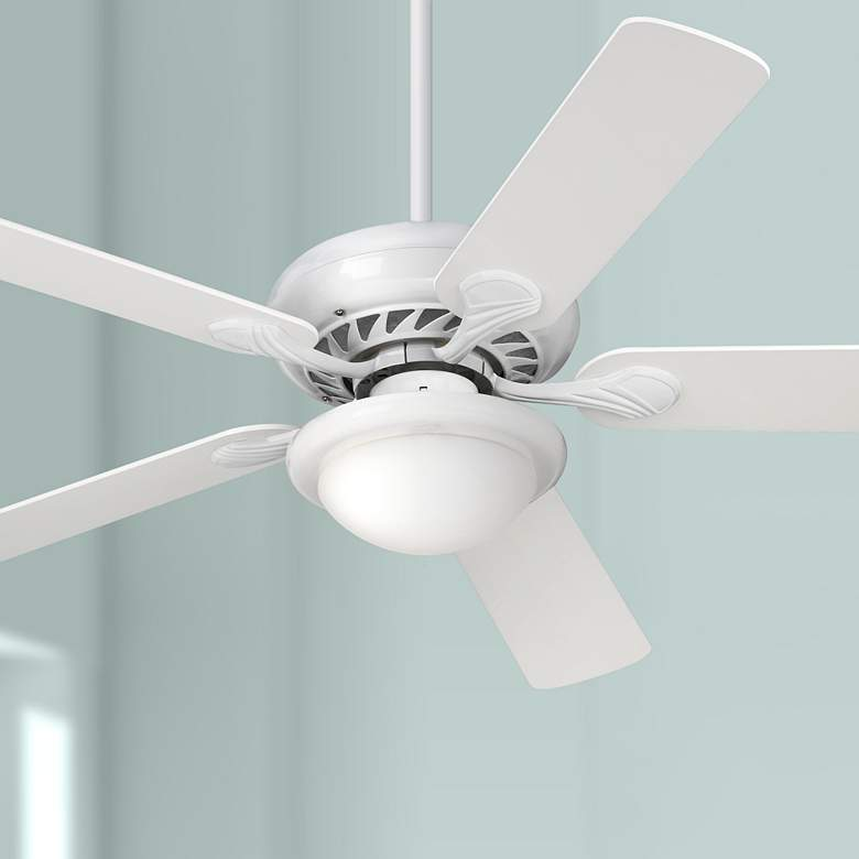 "52"" Casa Vieja® Tempra White LED Ceiling Fan"