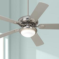 "52"" Casa Vieja Tempra Brushed Nickel LED Ceiling Fan"