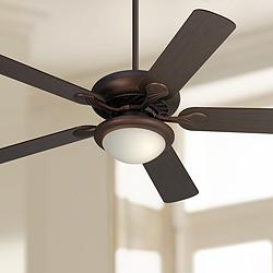 "52"" Casa Vieja® Tempra Oil Rubbed Bronze LED Ceiling Fan"