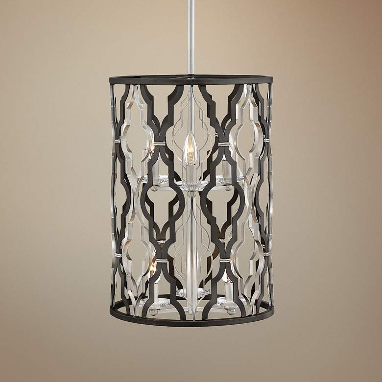 "Portico 14"" Wide Bronze 6-Light Open Pendant Light"