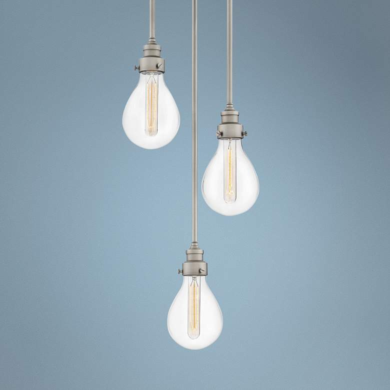 "Hinkley Denton 13 1/4"" Wide Pewter Multi Light"