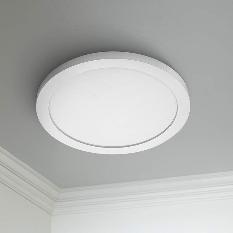 "Satco Blink Plus 15""W White 3000K LED Round Ceiling Light"