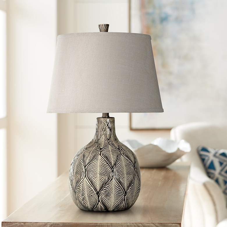 Dothan Black And White Ceramic Table Lamp