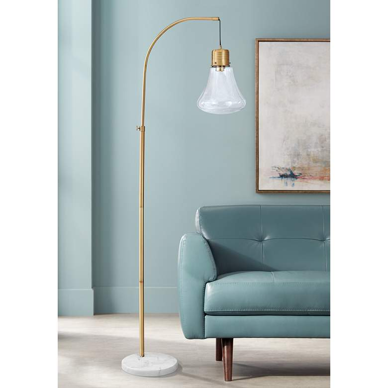 Cordea White and Gold Modern Floor Lamp with