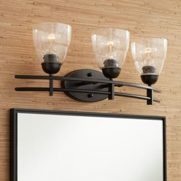 "Possini Euro Deco 23 1/2"" Wide 3-Light Bronze Bath Light"