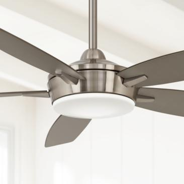"52"" Minka Aire Espace Brushed Nickel LED Ceiling Fan"