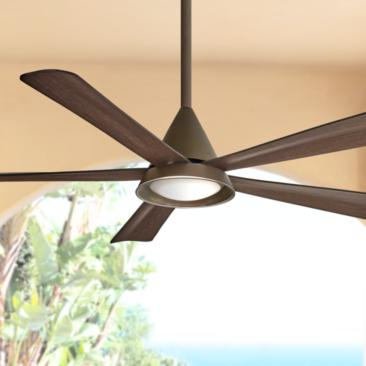 "54"" Minka Aire Cone Oil Rubbed Bronze Wet LED Ceiling Fan"