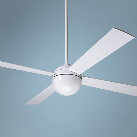 "52"" Modern Fan Company Gloss White Ball Ceiling Fan"