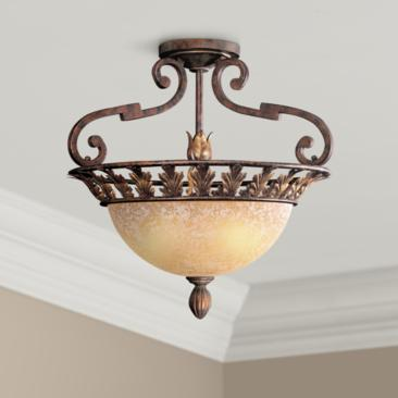 "Metropolitan Zaragoza 19 1/2"" Wide Ceiling Light Fixture"