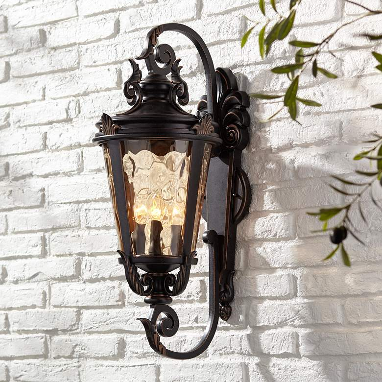 "Casa Marseille™ 27 1/2"" High Bronze Outdoor Wall Light"