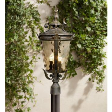 "Casa Marseille 25"" High Bronze 4-Light Outdoor Post Light"