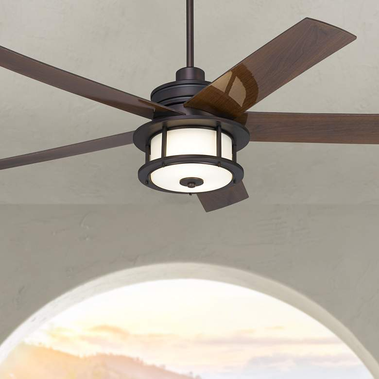 "60"" Casa Largo Oil-Brushed Bronze LED Ceiling Fan"