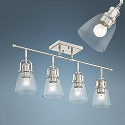 Possini Euro Kalen 4-Light Brushed Nickel Track Fixture