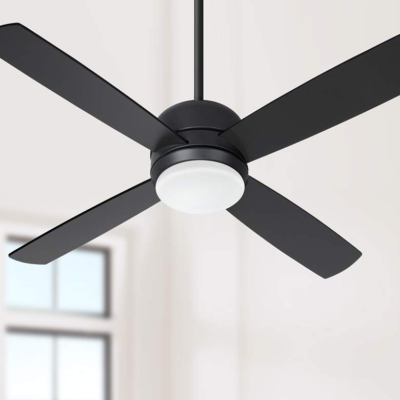 "44"" Craftmade Montreal Flat Black LED Ceiling Fan"