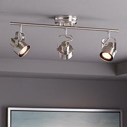 Pro Track Kato 3-Light Satin Nickel LED Track Fixture