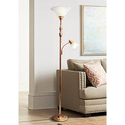 Elegant Designs Mother Daughter Rose Gold 2-Light Floor Lamp