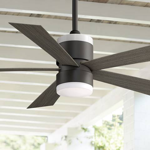 "52"" Fanimation Torch Matte Greige Damp LED Ceiling Fan"