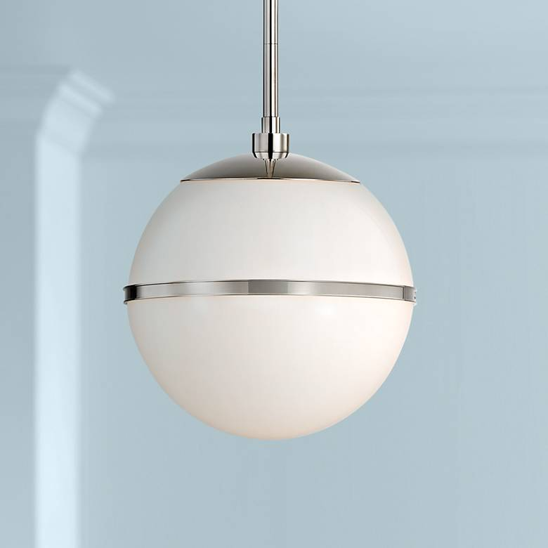 "Crystorama Truax 12"" Wide Polished Nickel Globe Mini Pendant"