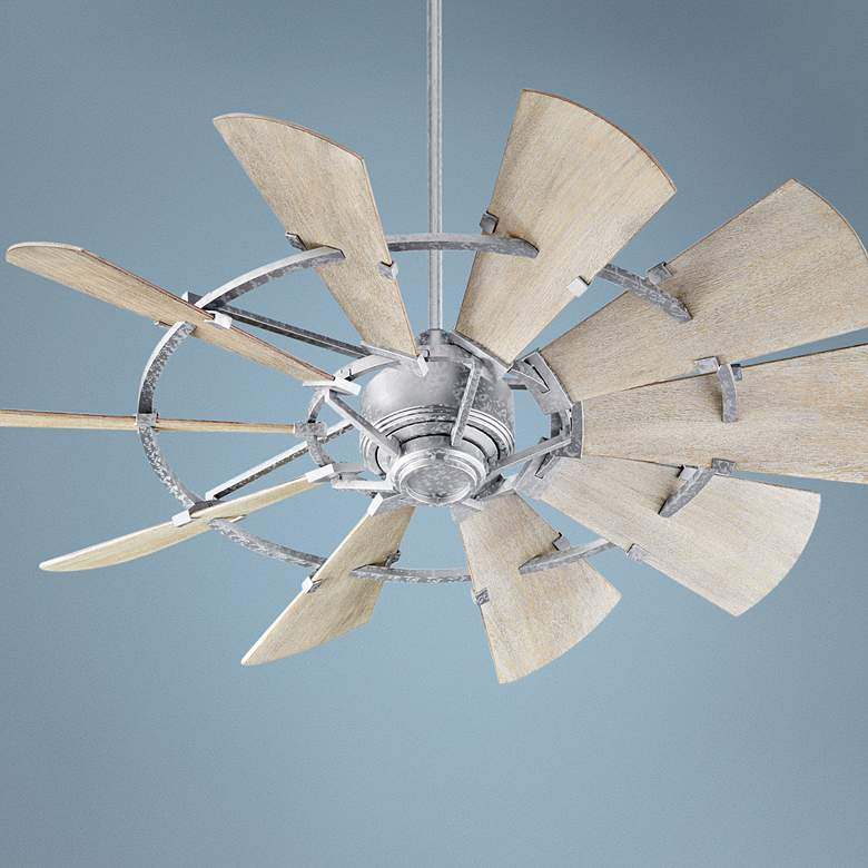 "52"" Quorum Windmill Galvanized Ceiling Fan"