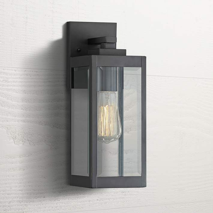 Quoizel Westover 14 1 4 High Earth Black Outdoor Wall Light 61m98 Lamps Plus