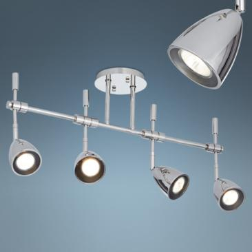 Pro Track Mariah 4-Light Polished Nickel Track Fixture