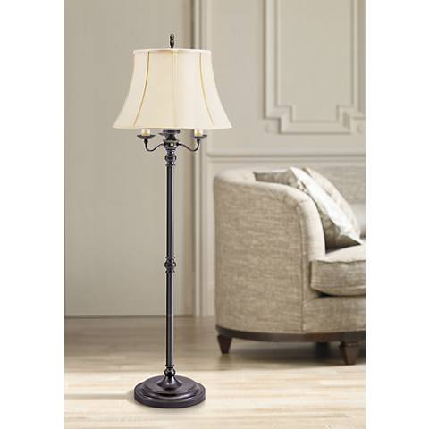 House Of Troy Newport 63 High Bronze Six Way Floor Lamp 62134