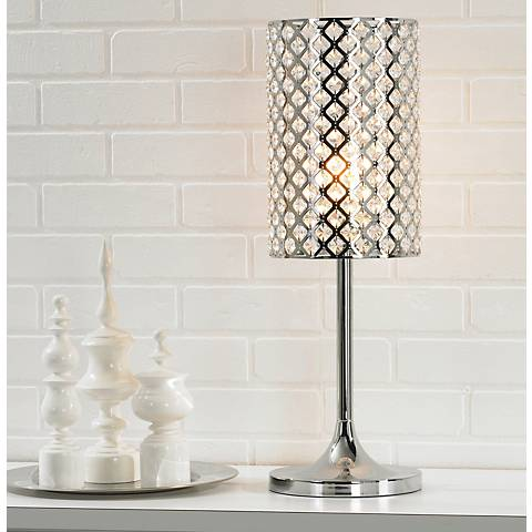 Glitz Crystal and Chrome Table Lamp