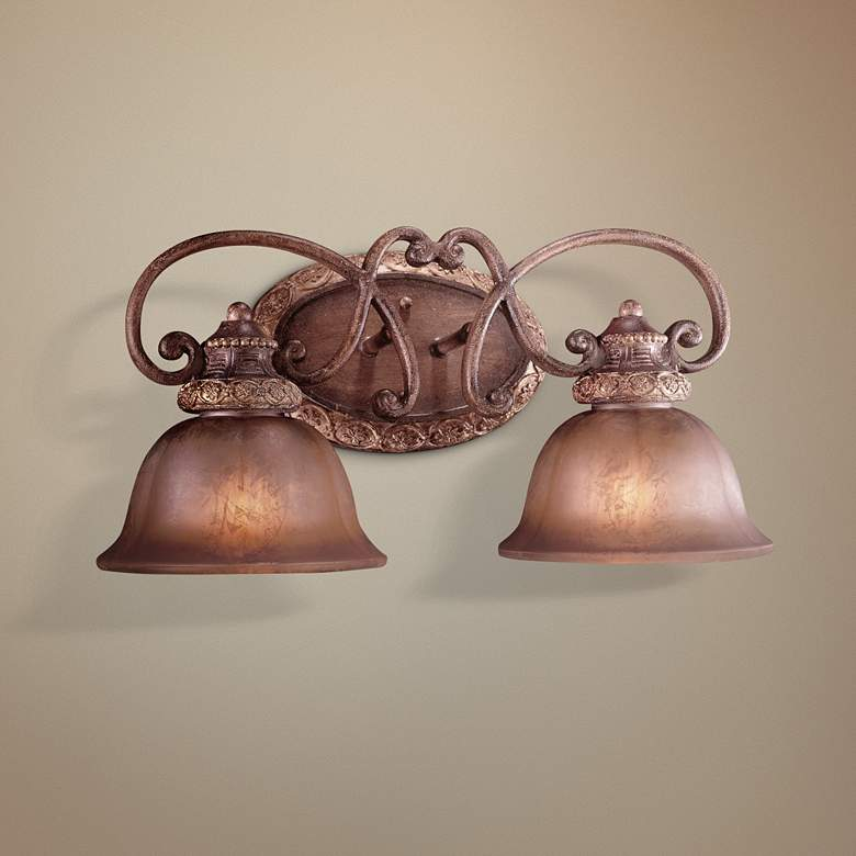 "Illuminati Collection 20"" Wide Bronze 2-Light Bath Light"