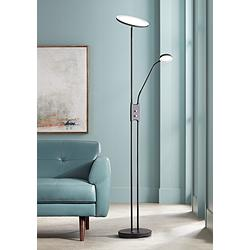 Taylor LED Torchiere Floor Lamp with Side Light