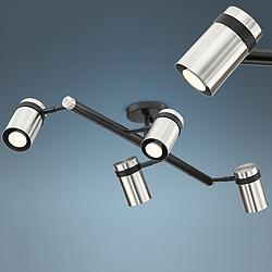 Pro Track Sandre 4-Light Black and Nickel Track Fixture