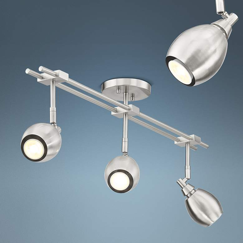 Pro Track Ericson 3-Light Brushed Nickel Track Fixture
