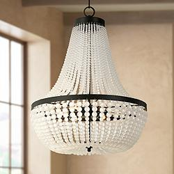 "Crystorama Rylee 18"" Wide Matte Black Crystal Chandelier"