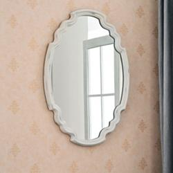 "Backstage Antique White 35 1/2"" x 24 1/2"" Wall Mirror"