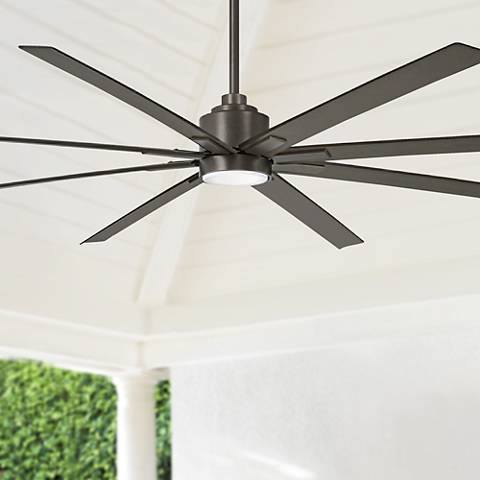 "84"" Minka Aire Xtreme H20 Smoked Iron Wet LED Ceiling Fan"