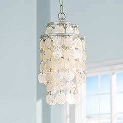 "Crystorama Brielle 7"" Wide Antique Silver Mini Chandelier"
