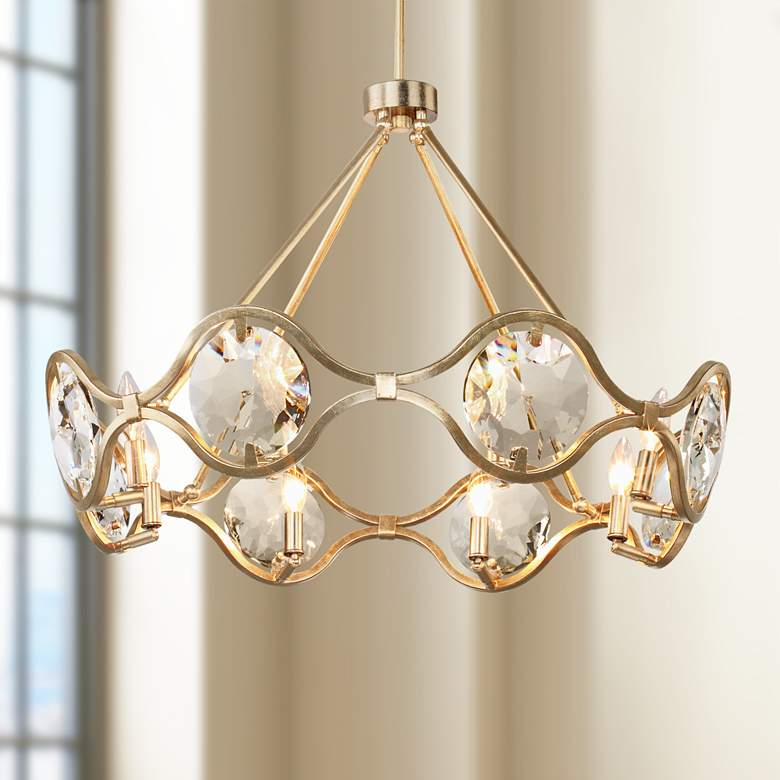 "Quincy 29 1/2"" Wide Distressed Twilight 8-Light Chandelier"