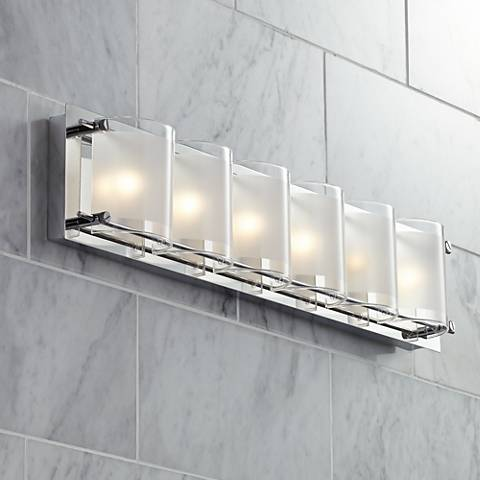 glass wide bath and style light bands euro possini pin design