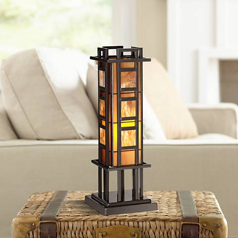 "Prairie Style 20"" High Pillar Accent Table Lamp"