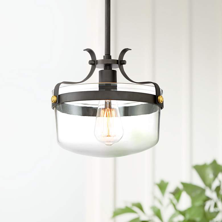 "Cami 10 1/4"" Wide Bronze Mini Pendant Light"