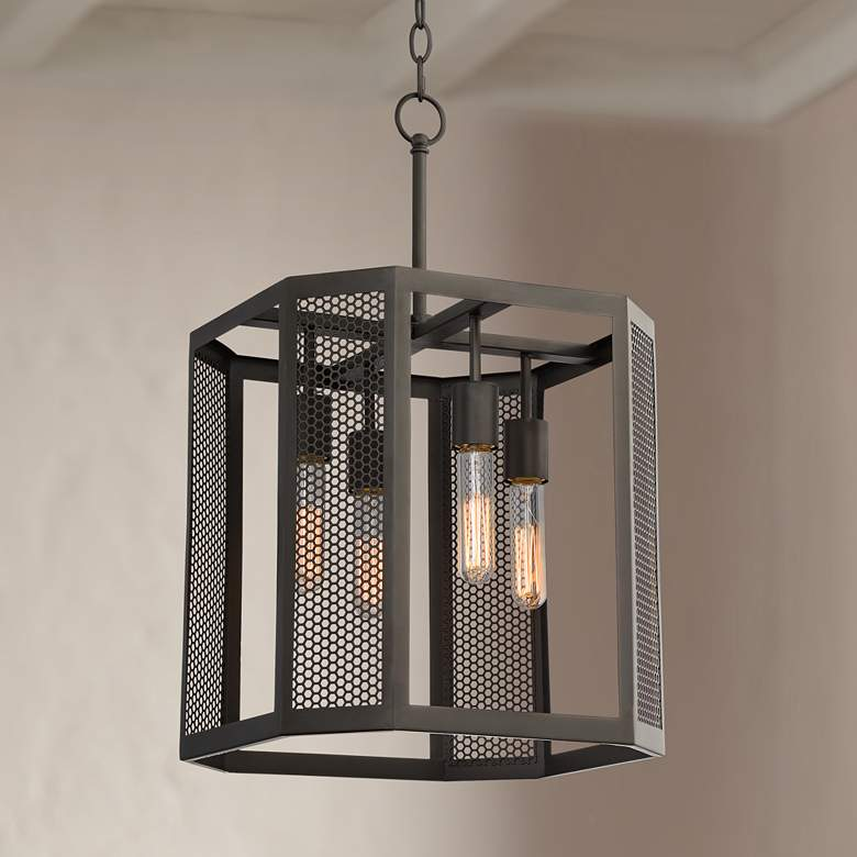 "Aedan 14"" Wide Oil Rubbed Bronze 4-Light Pendant"