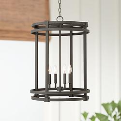 "Caffrey 18 1/4"" Wide Bronze Entry Pendant Light"