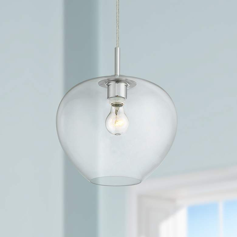 Teresita 11 1 2 Wide Chrome And Gl Mini Pendant Light