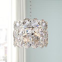 "Etienne 13 1/2"" Wide Chrome and Crystal Pendant Light"