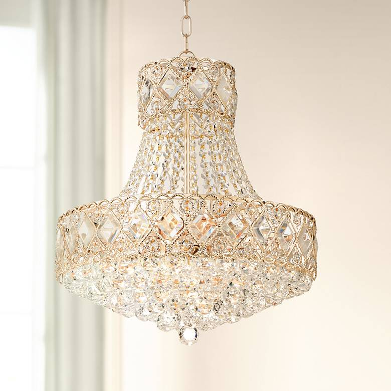 "Duchess 20"" Wide Rose Gold 10-Light Crystal Chandelier"