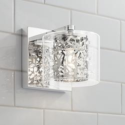 "Possini Euro Jungle 5 1/4"" High Chrome LED Wall Sconce"