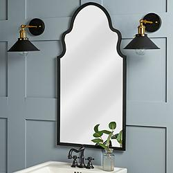 "Cooper Classics Collen Black 20"" x 37 3/4"" Wall Mirror"