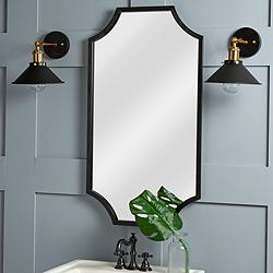 "Cooper Classics Mandrede Black 19 3/4"" x 36"" Wall Mirror"