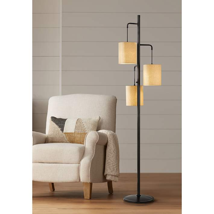 3 Light Lantern Floor Lamp