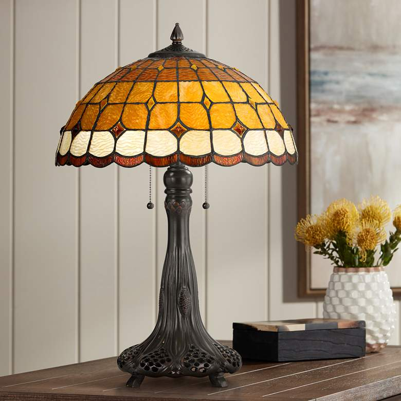 Merriweather Tiffany-Style Table Lamp with Pull Chain Switch