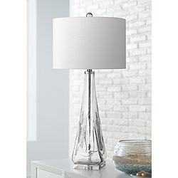 Piacenza Triangular Clear Glass Table Lamp